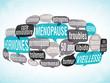 nuage de mots bulles ZOOM : ménopause