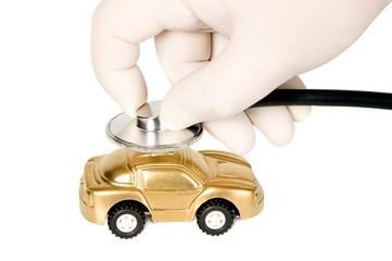 Medicine stethoscope with golden money-box