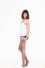 Junge schlanke Frau in Unterwäsche