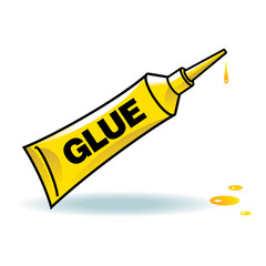 Glue yellow tube sticky stationary repair tool