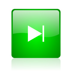 next green square web icon on white background