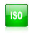 iso green square web icon on white background