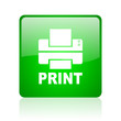 print green square web icon on white background