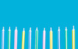 birthday candles in a row