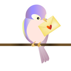 Bird with love message