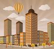 Citylife in Perspective (retro colors)