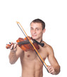 handsome guy shirtless violin player