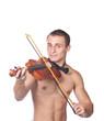 handsome guy shirtless violin player