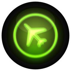 Button Flugzeug Grün