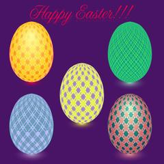 Estear eggs, vector