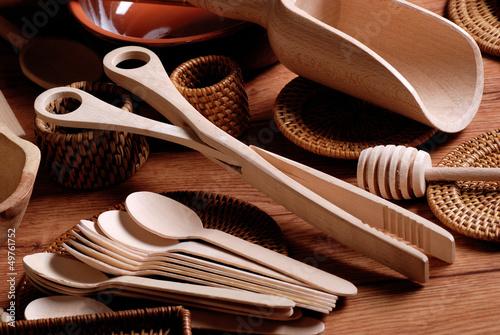 utensili da cucina in legno - pinza