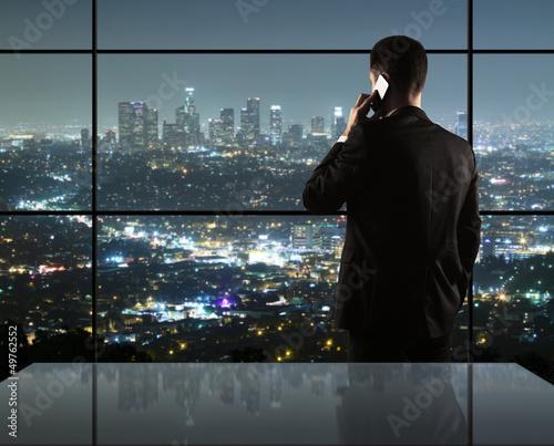 man and city nightlife