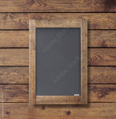 wall wood texture with black poster