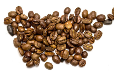 coffee beans on a beautiful background