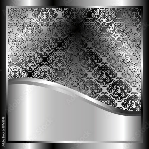 Metallic background with a pattern