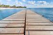 ponton sur lagon mauricien