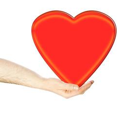 Hand hält ein Herz