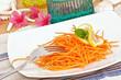 Carrot salad close up