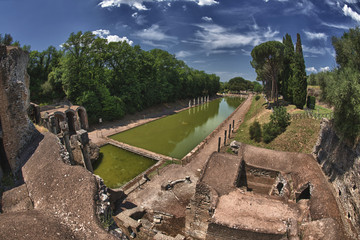 Villa adriana ancient roman ruins of emperor palace