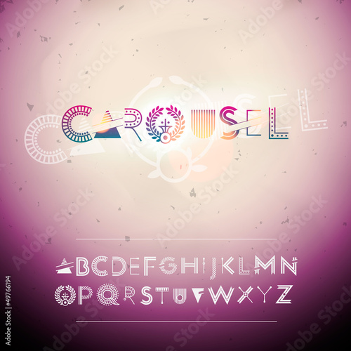 Abstract swirly creative Alphabet, vector Eps10 illustration.