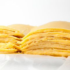 panelle(Sicilian fritters made from gram flour )