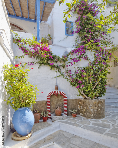 picturesque alley in a mediterranean island