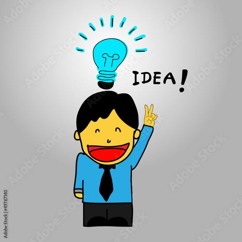 思考想像力技术插图漫画热量灯泡玻璃男人简单粗糙的组绘图能源象徵载