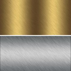 Aluminum, bronze textures