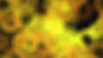 Yellow Blur Bubbles