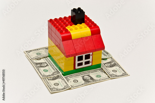 Money and lego house