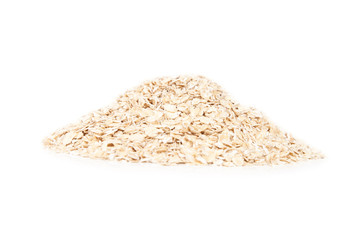 pile of oatmeal isolated on white