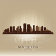 New Orleans Louisiana skyline city silhouette