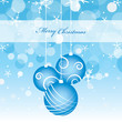 Christmas Vector Blue Card