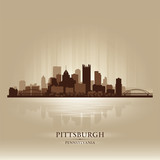 Pittsburgh Pennsylvania skyline city silhouette