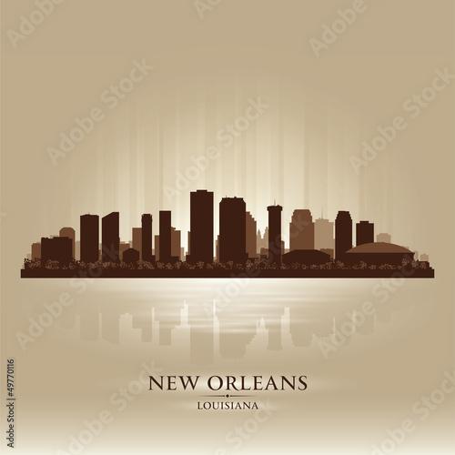 New Orleans Louisiana skyline city silhouette