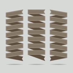 Set of ad ribbons - illustration