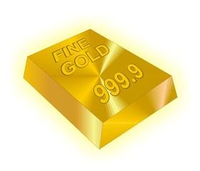 fine gold - 999.9kt (24kt) - brick