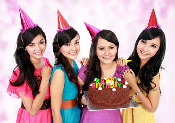 beautiful girls celebrate birthday