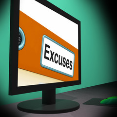 Excuses On Monitor Shows Reasons
