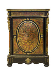 Furniture curbstone covered with a brass inlaid with nacre, 18 c