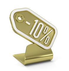 """""""Etiquette -10%"""" Icône Or"""