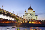 Evening Moscow and Orthodox Church