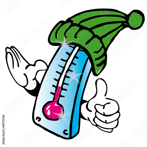 Illustration thermometer wetter temperatur kaelte waerme