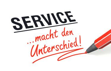 Stift- & Schriftserie: Service macht den Unterschied!