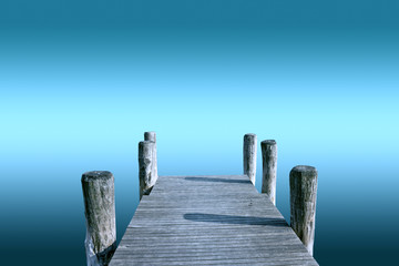 pier isolated over infinite