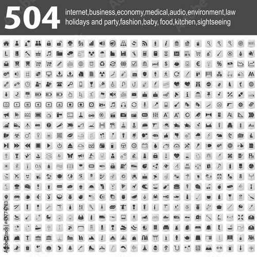 504 Icons with shadow