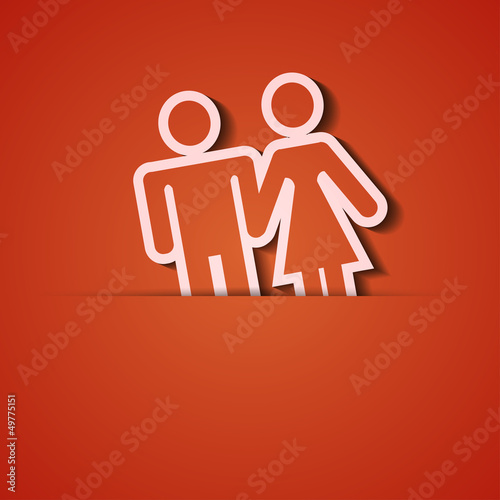 Vector background. Orange icon applique. Eps10