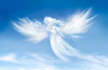 """Постер, картина, фотообои """"Angel in the clouds"""""""
