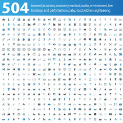 504 blue/grey Icons