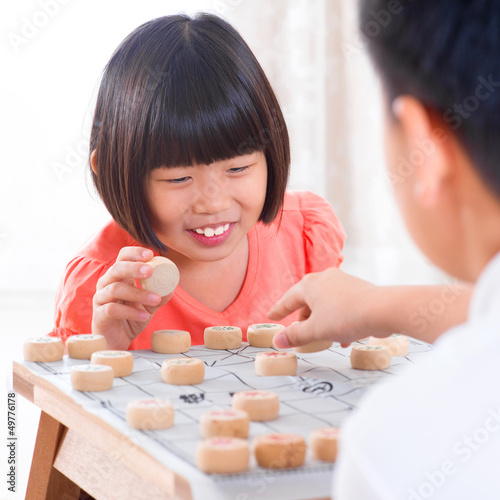 Asian playing Chinese chess